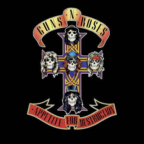 Album cover for Appetite for Destruction by Guns N' Roses featuring the song Sweet Child O' Mine